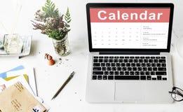 Kalendarzowy Nominacyjny spotkanie daty pojęcie Zdjęcie Royalty Free