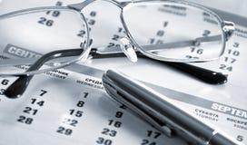 kalendarzowy pióro Zdjęcie Stock