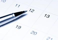 kalendarzowy pióro Obraz Stock