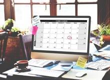 Kalendarzowy planista organizaci zarządzanie Przypomina pojęcie Obraz Stock