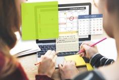 Kalendarzowy planista Planuje Organixer notatki pojęcie Zdjęcia Royalty Free