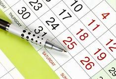 kalendarzowy planowanie Zdjęcia Royalty Free
