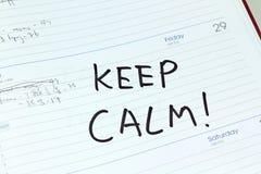 Kalendarzowy powitanie na białym tle Zdjęcia Stock