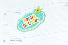 Kalendarzowy powitanie notatki bielu tło Zdjęcie Royalty Free