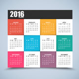 Kalendarzowy projekt 2016 rok Zdjęcie Royalty Free