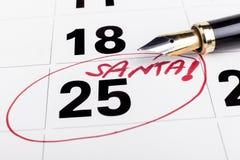Kalendarzowy Santa Zdjęcia Royalty Free