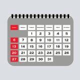 Kalendarzowy wektor Wektorowa ilustracja szczegółowa piękna kalendarzowa ikona Fotografia Royalty Free