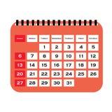 Kalendarzowy wektor Wektorowa ilustracja szczegółowa piękna kalendarzowa ikona Obrazy Royalty Free