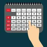 Kalendarzowy wektor Wektorowa ilustracja szczegółowa piękna kalendarzowa ikona Obraz Stock