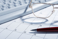 kalendarzowy zbliżenie Zdjęcie Royalty Free