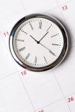 kalendarzowy zegar Zdjęcia Royalty Free