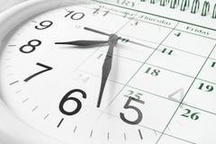 kalendarzowy zegar Zdjęcie Royalty Free