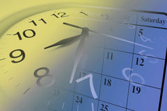 kalendarzowy zegar Obraz Stock