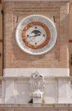 kalendarzowy zegarowej tarczy księżycowy fazy wierza Obrazy Royalty Free