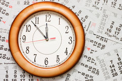 kalendarzowy zegarowy composite Obraz Stock
