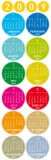 kalendarzowych 2009 kolor Fotografia Royalty Free