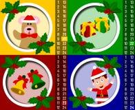 kalendarzowych nastań 6 bożych narodzeń Obraz Stock