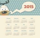 Kalender 2015 år med hjortar Fotografering för Bildbyråer
