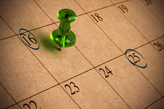kalender royaltyfri foto