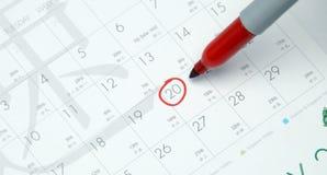 Kalender Stockfoto