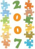 kalender 2007 vektor illustrationer