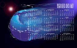 Kalender 2007 en bol of wereld Royalty-vrije Stock Fotografie