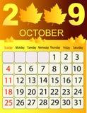 Kalender 2009 Stock Foto