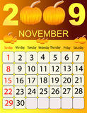 Kalender 2009 Stock Fotografie
