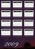 kalender 2009 royaltyfri illustrationer