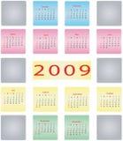 Kalender 2009 Lizenzfreie Stockfotos