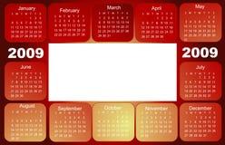 Kalender, 2009 Royalty-vrije Stock Afbeeldingen