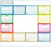 kalender 2009 Fotografering för Bildbyråer