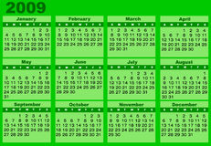 Kalender 2009 Stock Afbeelding