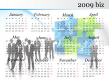 kalender 2009 Royaltyfri Fotografi