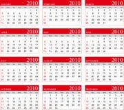 Kalender 2010 vector illustratie