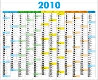 Kalender 2010 Royalty-vrije Stock Foto