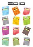 kalender 2010 Arkivfoto