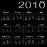 Kalender 2010 Lizenzfreie Stockfotografie
