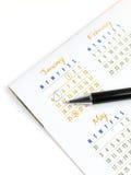 Kalender 2010 Stockbild