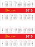 Kalender 2010 Stock Afbeelding