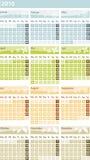 Kalender 2010 - Duitse versie Royalty-vrije Stock Foto