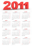 Kalender 2011 Royalty-vrije Stock Foto's