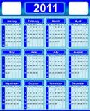 Kalender 2011 Royalty-vrije Stock Fotografie