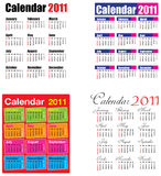 Kalender 2011 Lizenzfreie Stockfotos