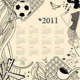 kalender 2011 Fotografering för Bildbyråer