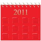 kalender 2011 stock illustrationer