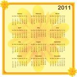 Kalender 2011 Jahr Lizenzfreies Stockfoto