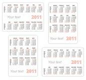 Kalender 2011 mit Leerzeichen für Ihren Text Stockfotos