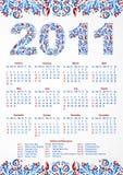 Kalender 2011. USA Lizenzfreie Stockfotos