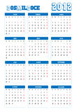 Kalender 2012 Stockfotos